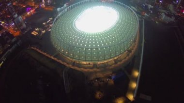 Stadio di calcio illuminato — Video Stock