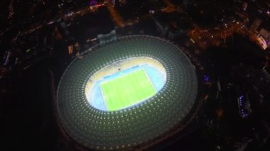 Panorama of football stadium — Stock Video