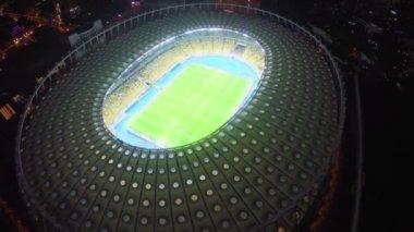 Panorama of football soccer arena — Stock Video