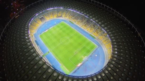 Impresionante estadio de fútbol — Vídeo de stock