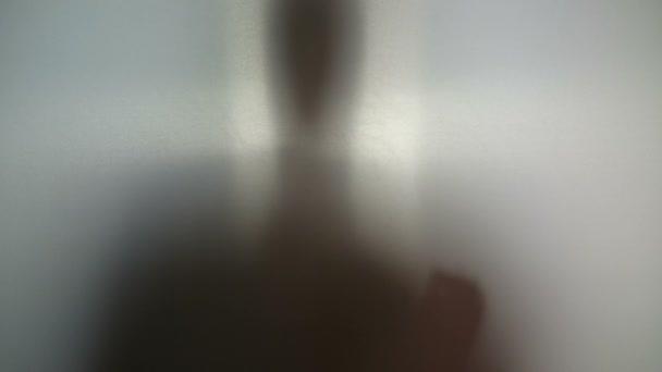 Man needs help, drug addiction, supernatural creature silhouette — Vidéo