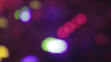 Professional sound equipment, DJ hands, defocused video effect — Vídeo stock