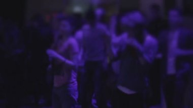 Charming girls dancing to trance music at nightclub party, relax — Stock Video