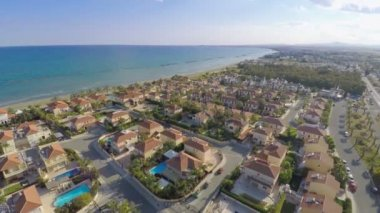 Aerial shot of luxury cottage town filmed with drone mounted camera. Real estate — Stock Video