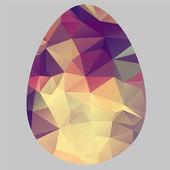 Unusual colored Easter eggs in cubism style. Vector background — Stock Vector