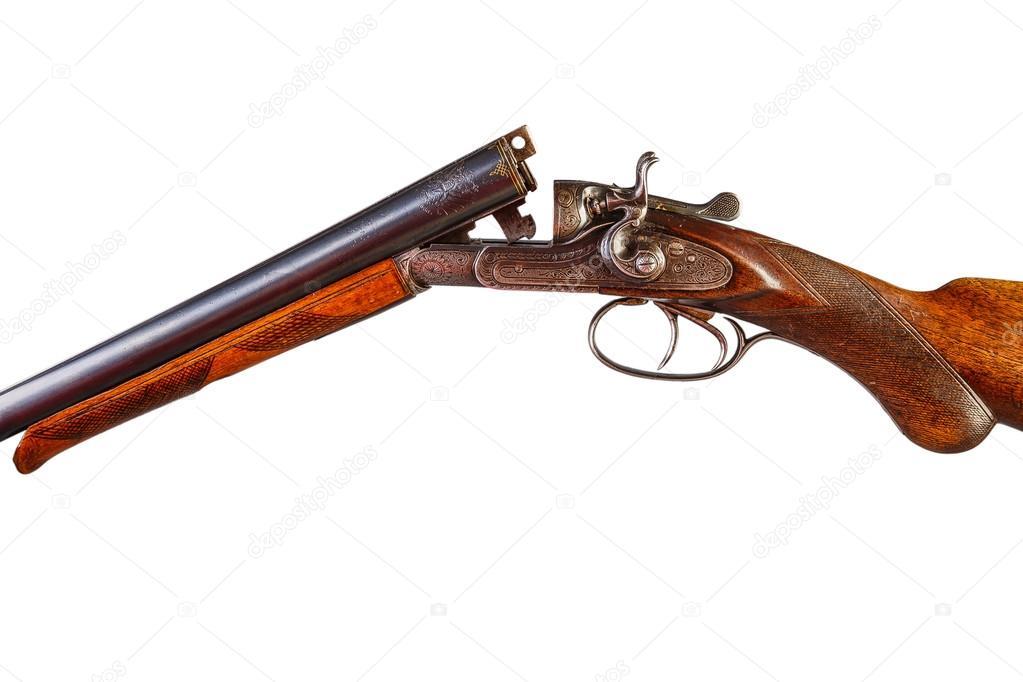 Fusil de chasse antique marteau — Photographie Alex_Tr ...