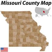 Missouri County Map — Stock Vector