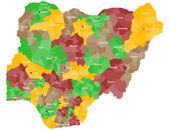 Map of Nigeria — Stock Vector