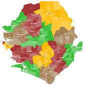 Map of Sierra Leone — Stock Vector