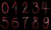 Illuminated numbers — Stock Photo