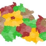 Map of the Czech Republic — Stock Vector #64223629