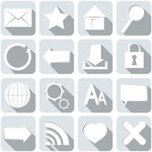 Internet Set of Icons — Stock Vector