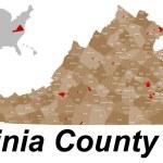 Virginia County Map — Stock Vector #79330944