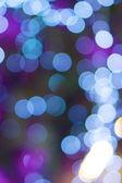 Defocused of glitter or blue bokeh — Stock Photo
