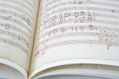 Antique music sheet background — Foto Stock