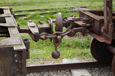 Detail of an vintage railway carriage — Stock Photo