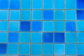 Swimming pool blue mosaic — Stock Photo