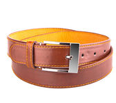 Male brown leather belt — 图库照片