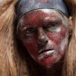 Female demon with face art — Stock Photo #61640253