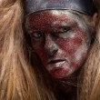 Female demon with face art — Stock Photo #61640403