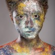 Woman with unusual paint make-up — Stock Photo #61660757