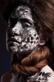 Woman black face art — Stock Photo