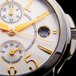 Luxury white gold watch swiss made — Stock Photo #65694367
