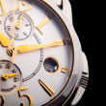 Luxury white gold watch swiss made — Stock Photo #65694379