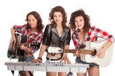 Bande de trio féminin musique — Photo