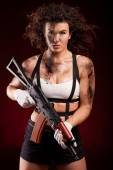 Strong female killer — Stockfoto