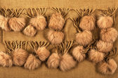Fur pompons — Stock Photo
