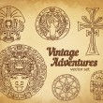Vintage Adventures: Design elements. — Stock Vector #80042876