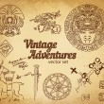 Vintage Adventures: Design elements — Stock Vector #80045352
