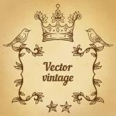 Vintage style design elements — Stock Vector