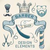 Hipster Barber Shop Business Card — Stock Vector