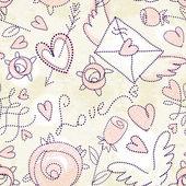 Valentine's day seamless patten — Vecteur