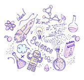 Back to School: science lab objects — Stock Vector