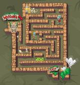 Maze of horror — Vector de stock