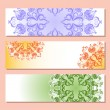 Set of three banner with pattern — Stock Vector #54722339