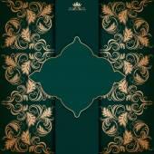Elegant frame with filigree ornament — Stock Vector