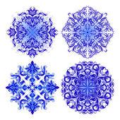 Vector set of blue pattern — Stockvektor