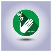Sticker, icon environmental protection — Stock Vector