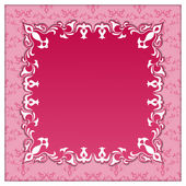 Vector vintage square paper frame — Stock Vector