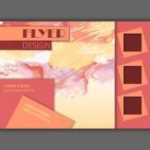 Abstracte stijl van aquarel flyer ontwerp — Stockvector