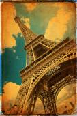 The Eiffel Tower in Paris in vintage style — Stock fotografie