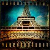 Wieża Eiffla w Paryżu w stylu vintage — Zdjęcie stockowe