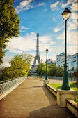 The Eiffel Tower in Paris in vintage style — Stock fotografie