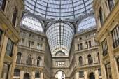Umberto I gallery in the city of Naples — Stock Photo