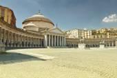 A beautiful view of  Piazza del Plebiscito in Naples — Stock Photo