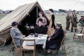 Wartime re-enactment at Shoreham Airshow — Stock Photo